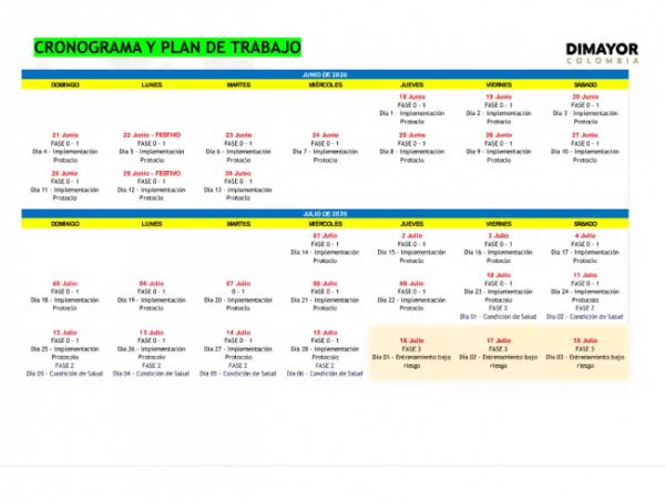 Calendario Dimayor