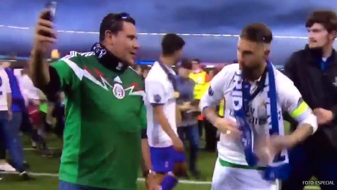Mexicano entra de 'colado' a festejos de la Champions