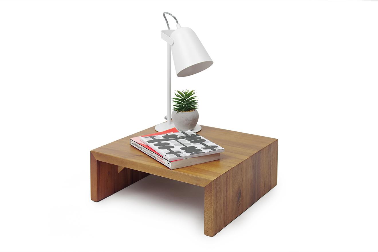 Acacia Platform Bedside Table Pair Futon Company