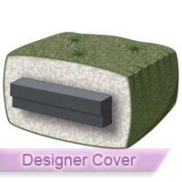 Silver 6 Queen Futon Mattress With Designer Cover
