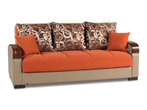 Roxy Orange Futon Sofa bed Futon World New Jersey