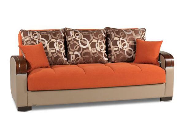 Roxy Orange Futon Sofa bed Futon World New Jersey