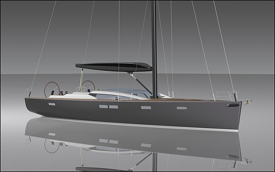 Futuna Yachts Marine Builders Futuna 70 Aluminum Sail Boat 3D Models