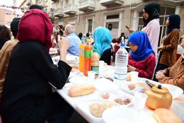 La cena organizzata dal Cnetro Taiba per l'evento Moschee aperte
