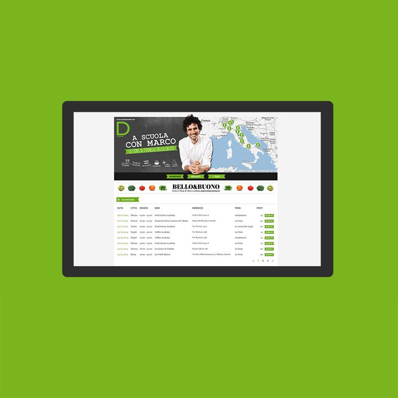 sito corsi di cucina a scuola con marco bianchi