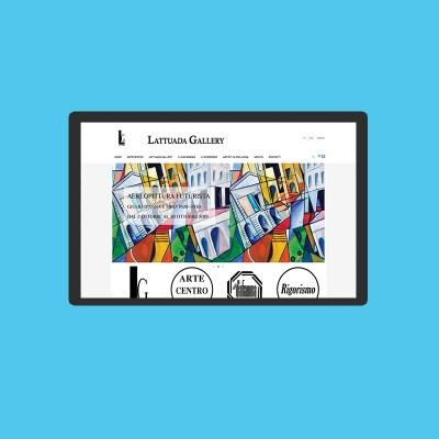 Realizzazione e-commerce opere d'arte Lattuada Gallery