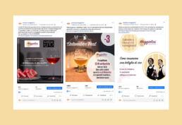 Cura dei canali social per Enoteca Maggiolini