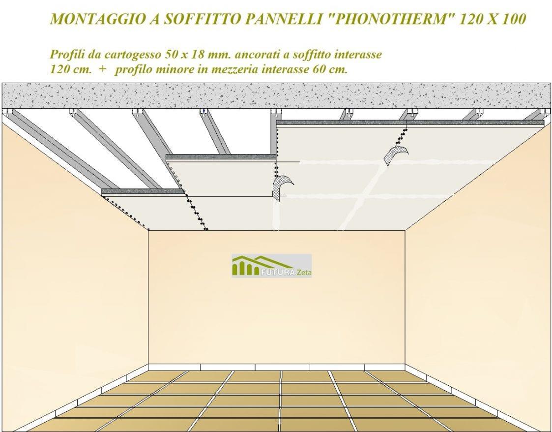Pannello prefinito accoppiato 120 x 100 alto isolamento interno termico acustico con eps 100 - Isolamento termico interno soffitto ...