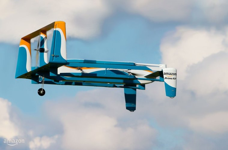 Amazon testa drones