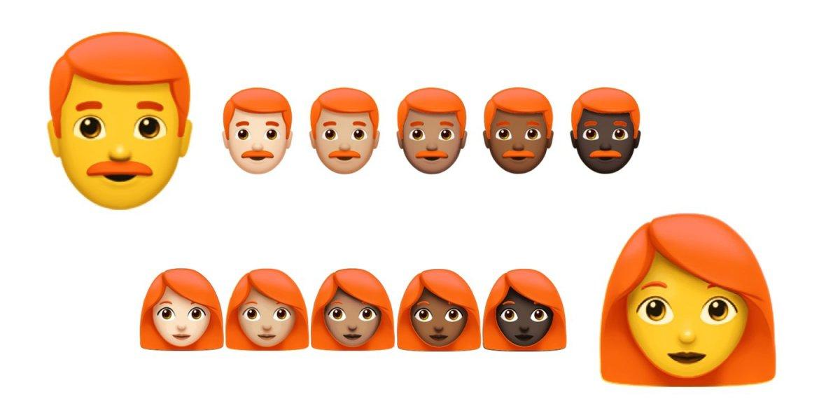Emoji Ruivos
