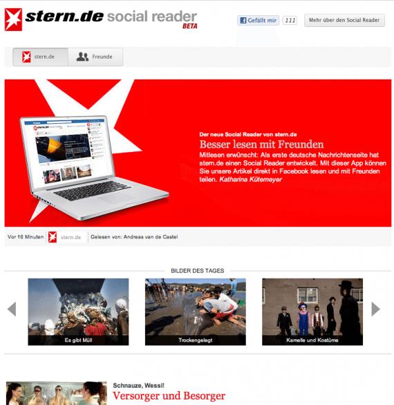 Open Graph App von Stern.de - Social Reader