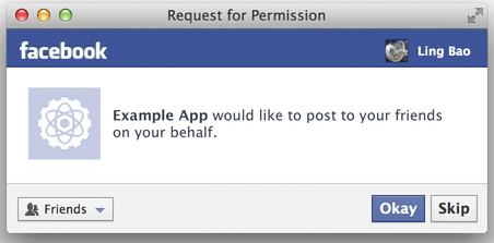 Mehr Übersicht - Facebook Permission Dialoge