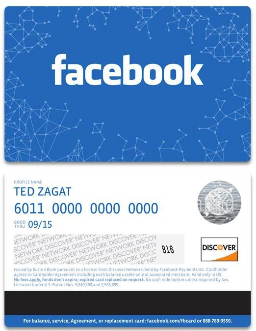 Facebook Geschenkkarte