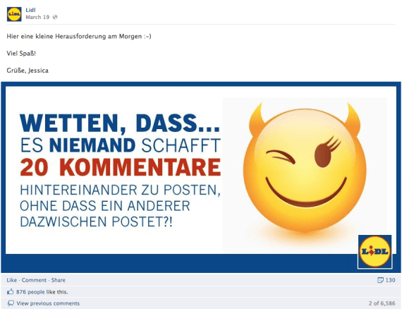 Facebook Community Management Fail Lidl