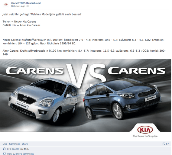 Facebook Community Management Fails - Kia Motors Deutschland