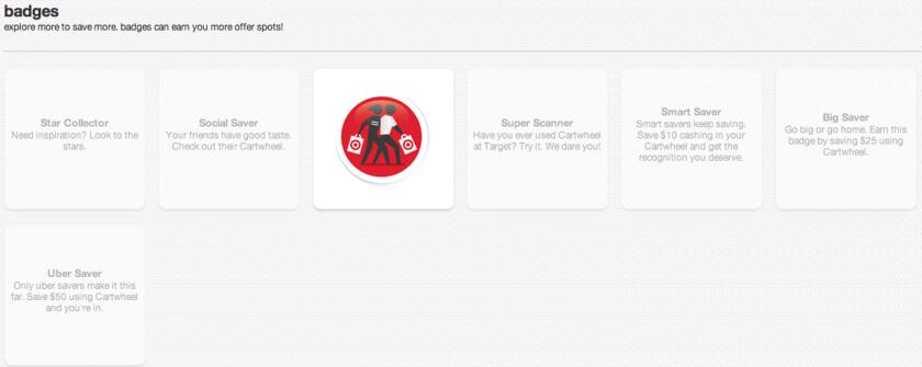 Target Cartwheel Badges