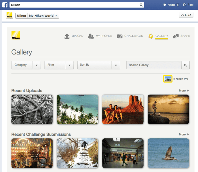 Facebook Kampagne - My Nikon World