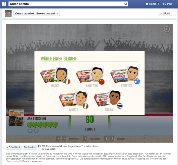 Deutsche Facebook Kampagnen - apetito