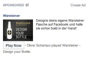 Facebook Anzeigenformat: App Install Ads rechte Spalte