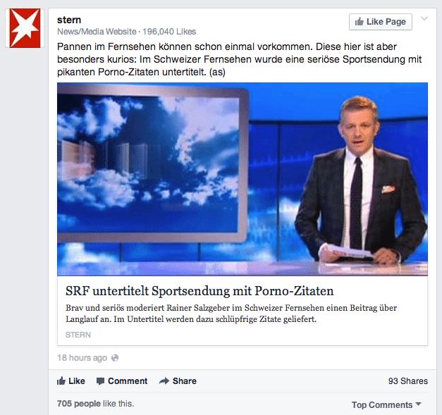 Organische Reichweite Facebook Link Posts