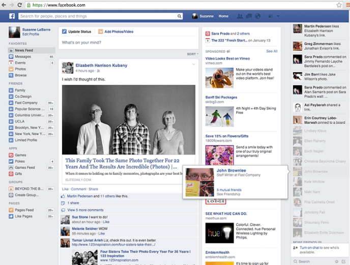 Facebook News Feed Design