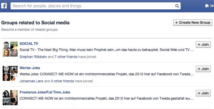 Facebook Gruppen - Empfehlungen durch Markierungen