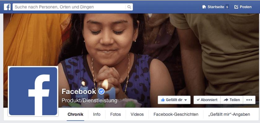 Neues Facebook Seiten Design - Titelbild