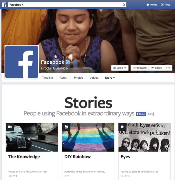 Facebook Seiten Design - Tabs Darstellung unter dem Titelbild