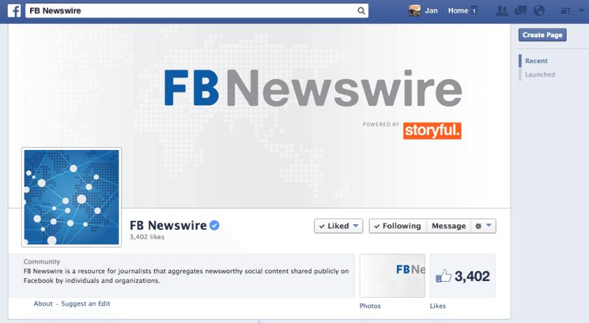 FB Newswire - Facebook für Medienunternehmen