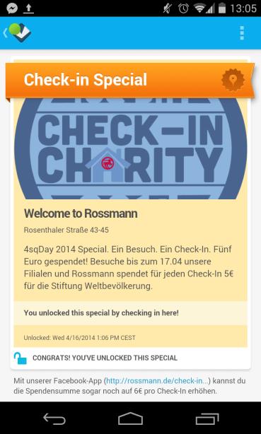 Rossmann Foursqaure Day 2014 Badge