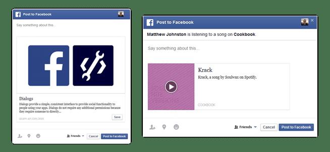 Neue Funktion für Facebook Share Button