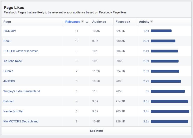 Facebook Audience Insights - So erstellt ihr einen Bericht: Nr. 3 Verwandte Facebook Seiten