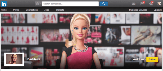 Barbie auf LinkedIn - Mattel auf LinkedIn