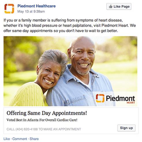 Facebook Anzeigen mit Patientendaten - PMD Innovation Challenge