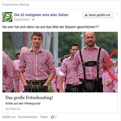 News Feed Spam -Facebook die 22 lustigsten SMS
