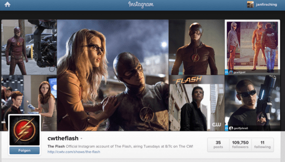 Instagram Kampagne  The CW Kmapagne für die TV Serie The Flash
