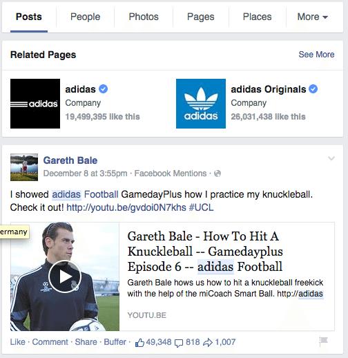 Facebook Suche - Keyword in der URL des Beitrages