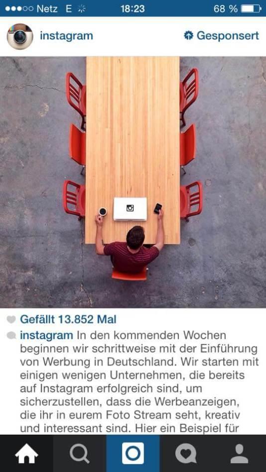 Werbung auf Instagram - Instagram Anzeigen starten in Deutschland