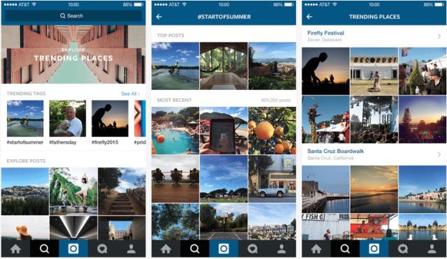 Instagram Suche - Explore Tab mir kuratierten Instagram Inhalten