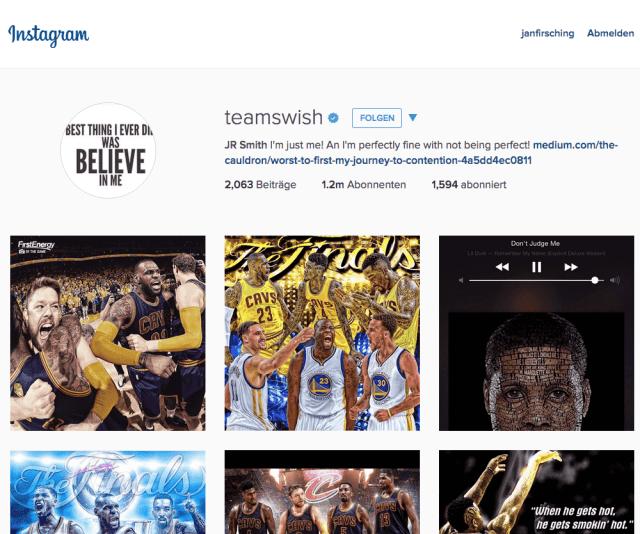 Instagram Webansicht - Darstellung von Instagram Accounts