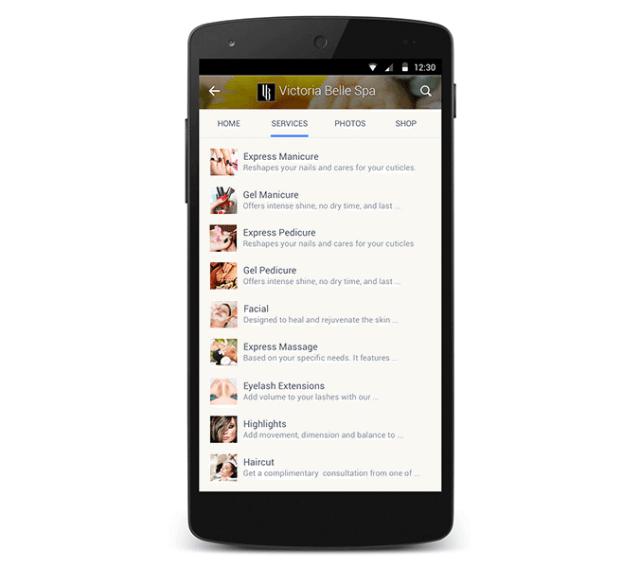 Mobile Facebook Seiten - Neue Reiter:Tabs für Services und Produkte