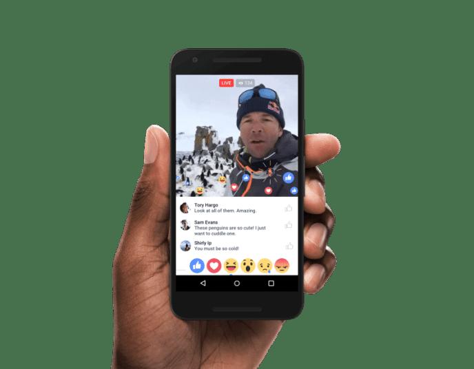 Facebook Live Video Tab für iOS und Android
