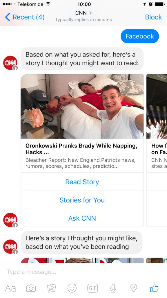 Facebook Messenger Bot CNN II