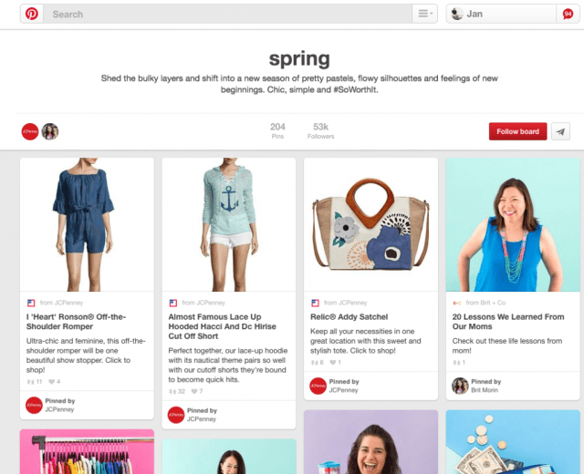 Pinterest Blogger Relations JC Penney