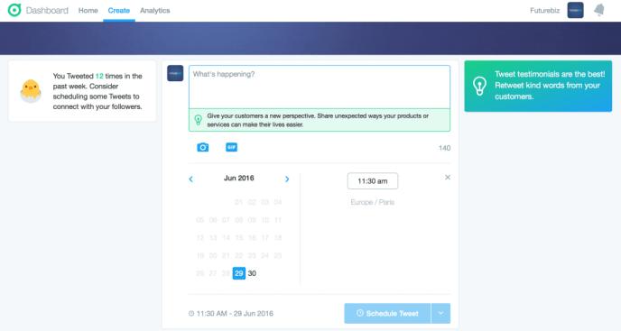 Twitter Dashboards - Tweets planen und Redaktionsplan