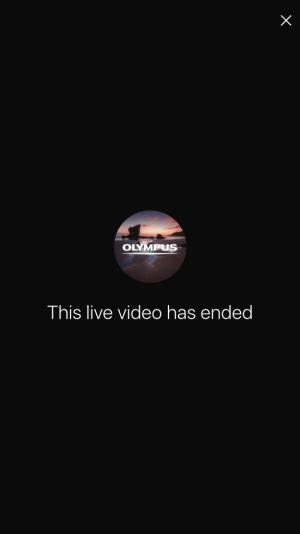 Instagram live videos werden nach Beendigung gelöscht