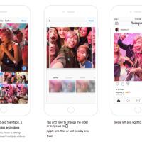 Neues Feature Instagram Karussell - Mehrere Fotos oder Instagram Video pro Post teilen.