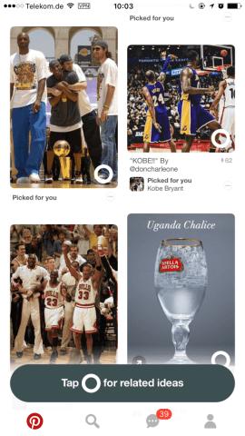 Pinterest Related Ideas - Empfehlungen von Inhalten