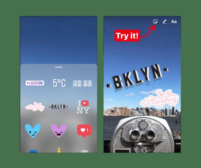 Instagram Geosticker für Instagram Stories