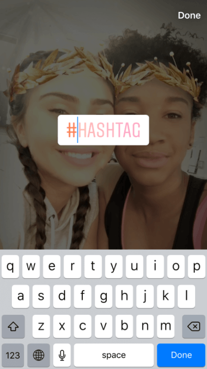 Instagram-stories-mit-hashtags